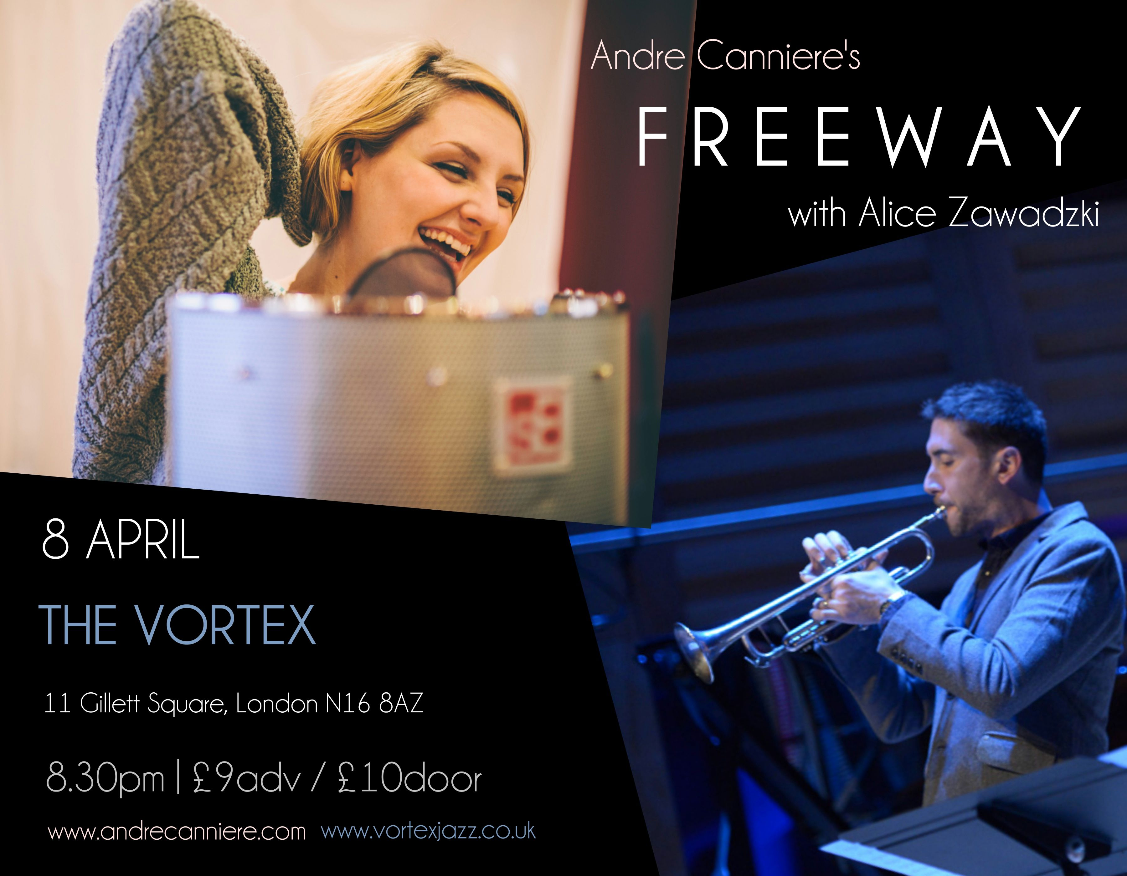 Freeway at The Vortex April 8th (with Alice Zawadzki)