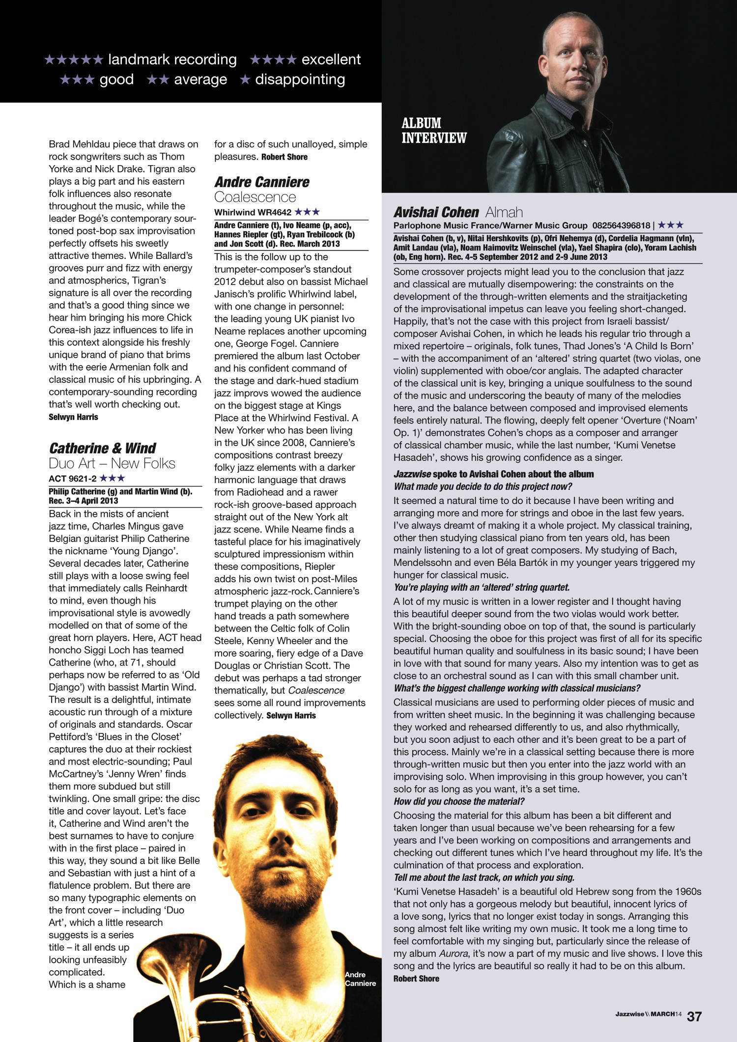 Jazzwise Review of Coalescence