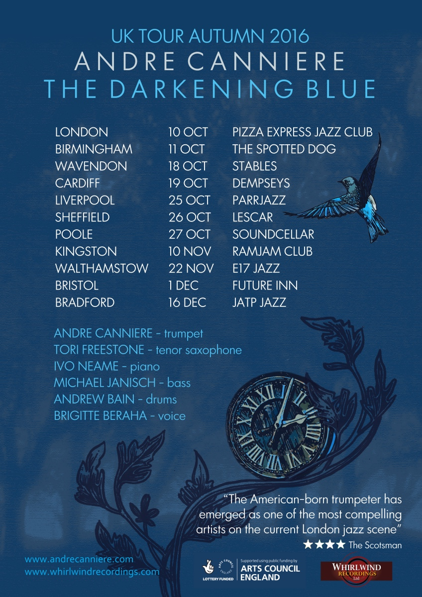 The Darkening Blue Tour Autumn 2016